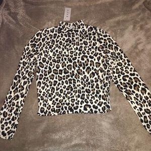 Leopard print top. Gaze DTLA